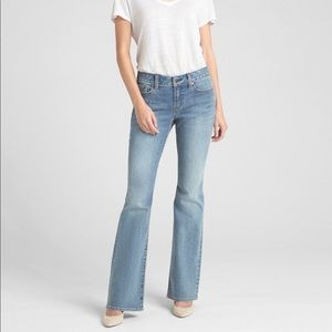 Medium Wash Gap Flare Jeans